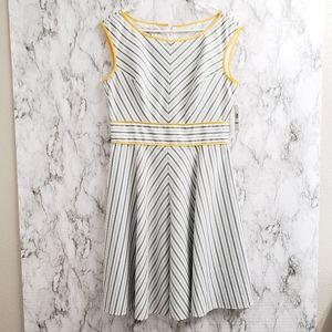 London Style striped seer sucker summer dress
